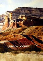 ghost ranch | watercolor | 20 x 14 SOLD