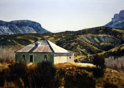 tin roof | watercolor | 14 x 20 • TE