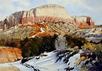 bluff at ghost ranch | watercolor | 14 x 20 SOLD