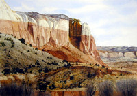 a view of ghost ranch | watercolor | 14 x 20 SOLD