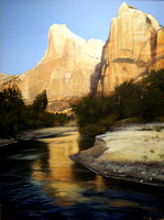 zion reflections | acrylic on canvas | 40 x 30 SOLD - GICLEE AVAILABLE