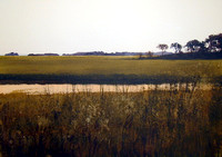 view across the marsh | watercolor | 14 x 20 SOLD