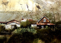 steins ghost ranch |watercolor | 14 x 20