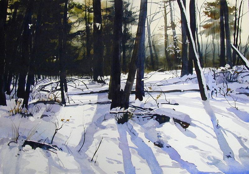 Painting Wter Color Snow Scenes
