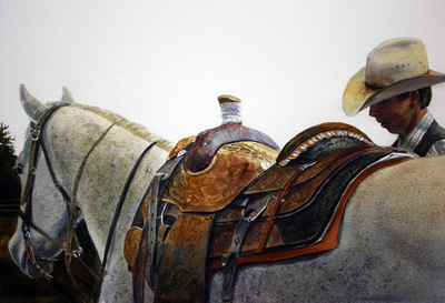 off the saddle| watercolor | 14 x 20 • C